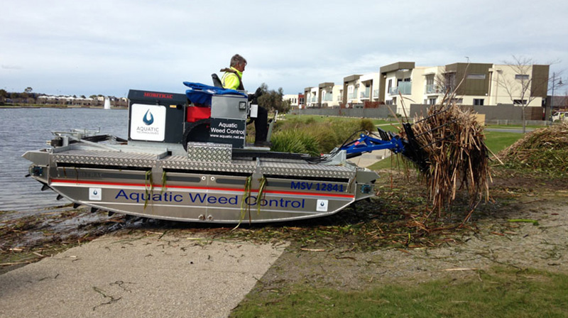 Mechanical removal of waterweeds
