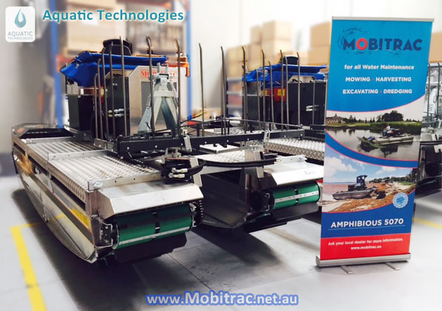 Mobitrac Amphibious Harvesters in stock