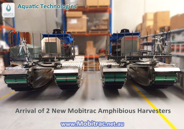 Mobitrac Amphibious Harvesting machine