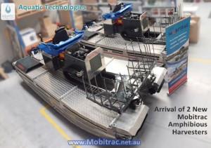 Mobitrac Amphibious Harvesting machine