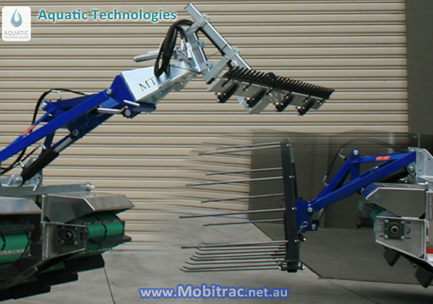 Mobitrac Amphibious Harvesting Attachments